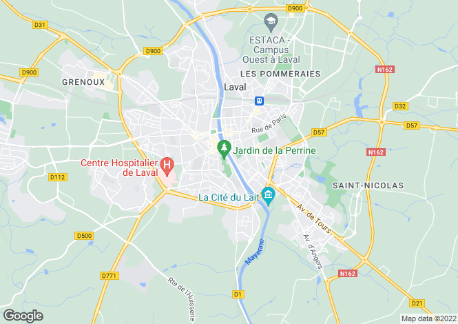 Map for Laval, Mayenne, 53000, France