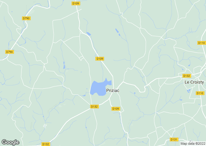 Map for Bretagne, Morbihan, Priziac