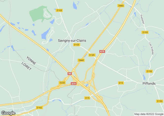 Map for SAVIGNY SUR CLAIRIS, BOURGOGNE-FRANCHE-COMTE