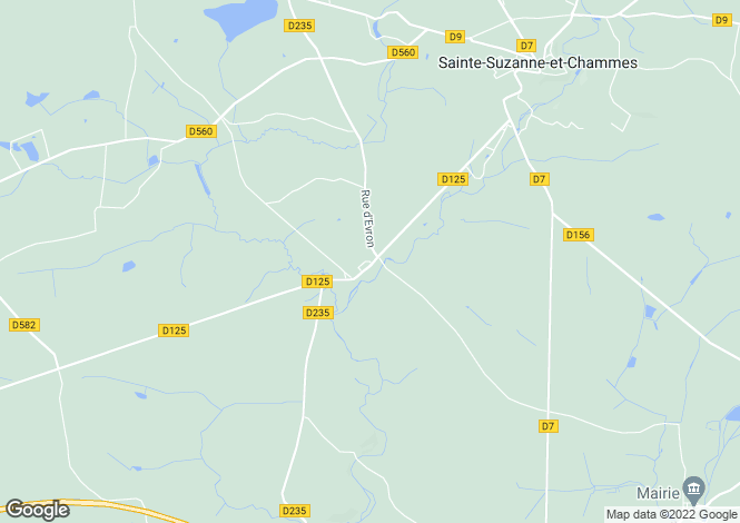 Map for chammes, Mayenne, France