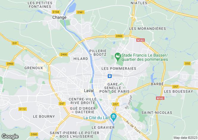 Map for Laval, Pays-de-la-Loire, 53000, France