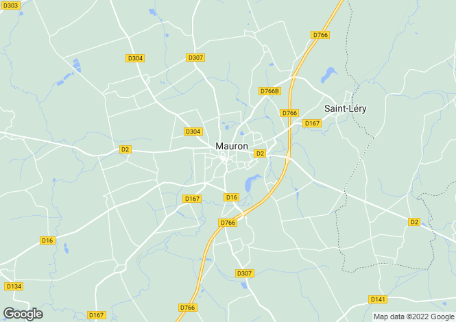 Map for MAURON, 56430, France