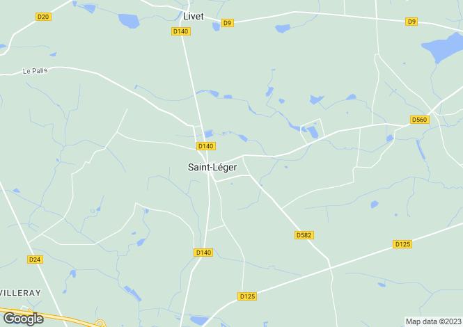 Map for st-leger, Mayenne, France