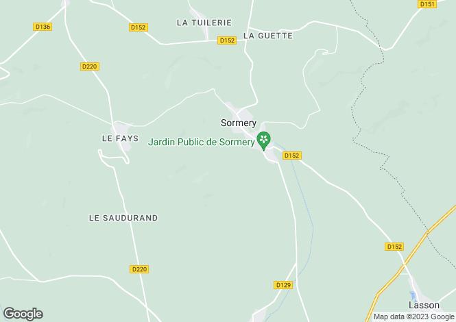 Map for sormery, Yonne, France
