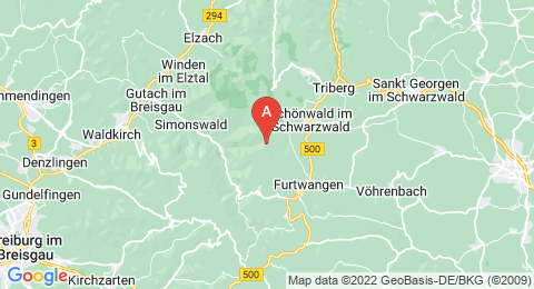 map of Brend (Germany)