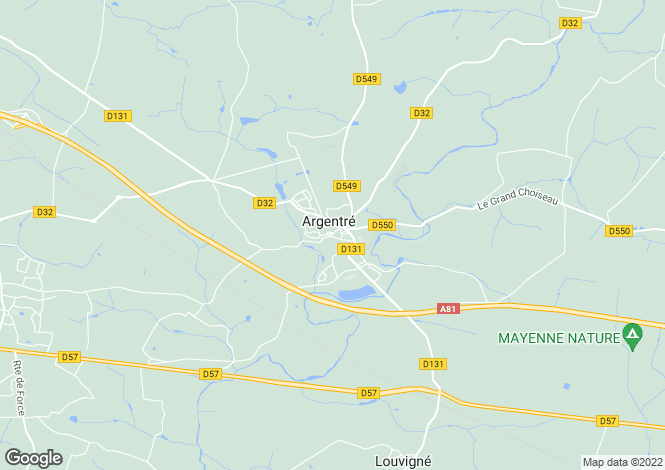 Map for argentre, Mayenne, France