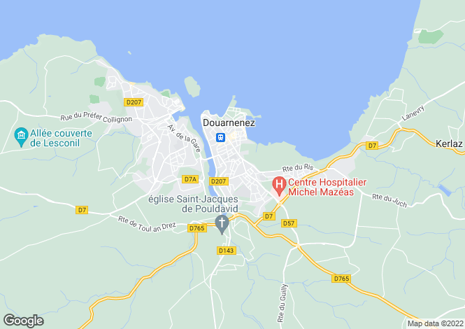 Map for Brittany, Finistère, Douarnenez