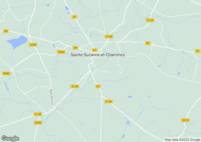 Map for Sainte-Suzanne, Mayenne, 53270, France