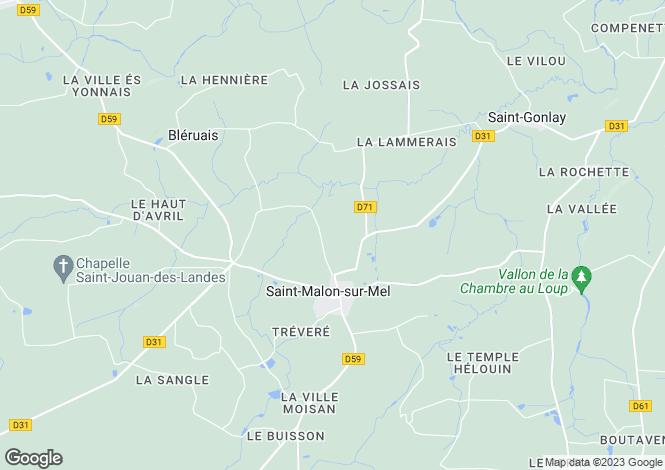 Map for SAINT MALON SUR MEL, Bretagne