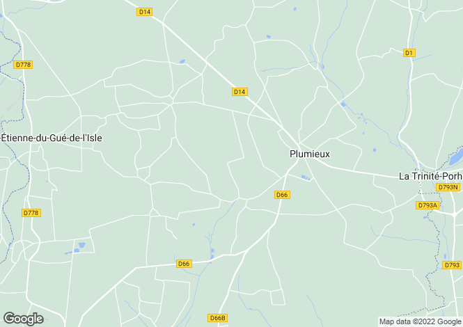 Map for Brittany, Côtes-d'Armor, Plumieux