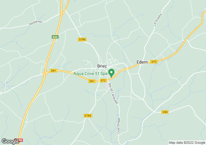 Map for Brittany, Finistère, Briec