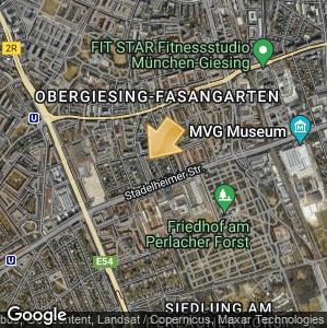 Bild: Lageplan: Obergiesing-Fasangarten