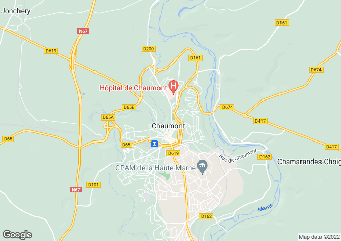 Map for Champagne-Ardenne, Haute-Marne, Chaumont