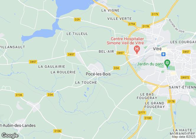 Map for POCE LES BOIS, Bretagne