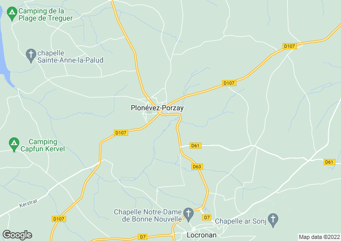 Map for plonevez-porzay, Finistère, France