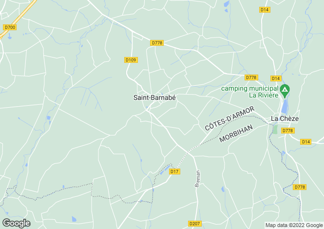 Map for Brittany, Côtes-d'Armor, St-Barnabé
