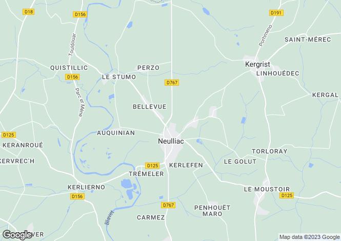 Map for neulliac, Morbihan, France