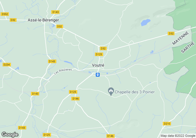 Map for Voutré, 53600, France