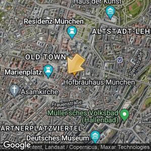 Bild: Lageplan: Hofbräuhaus München
