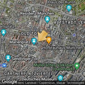 Bild: Lageplan: Die Münchner Kaiserburg im Alten Hof