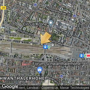 Picture: Map of location: Munich Bus Station (ZOB)
