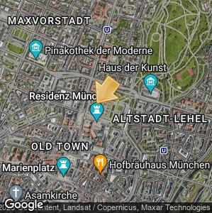 Bild: Lageplan: Hofgarten mit Dianatempel