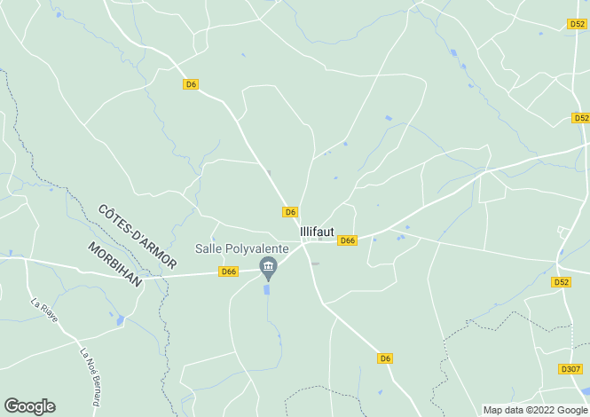 Map for Brittany, Côtes-d'Armor, Illifaut