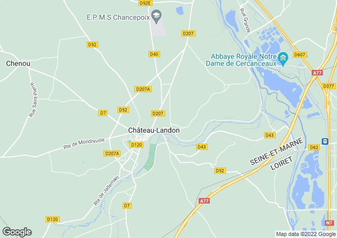 Map for CHATEAU LANDON, Île-de-France