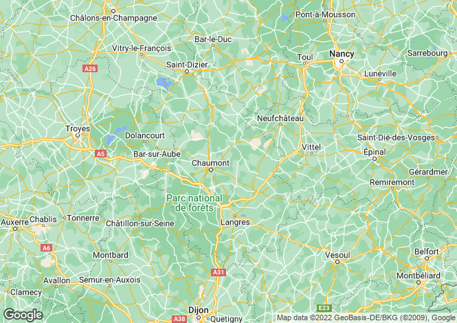 Map for Champagne-Ardenne, Haute-Marne