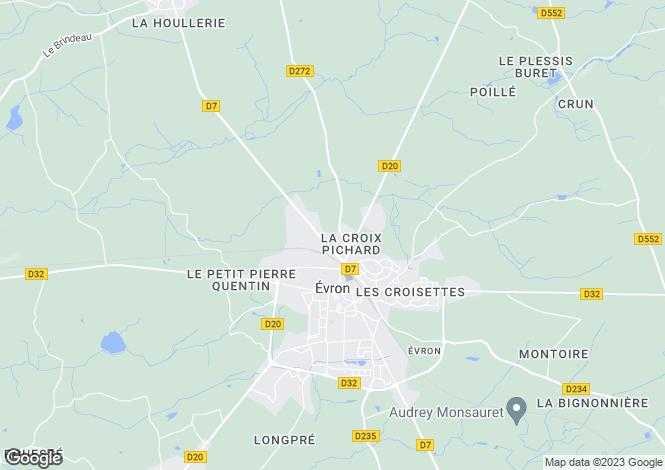 Map for Évron, 53600, France