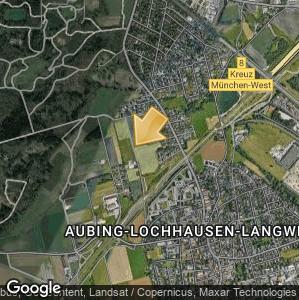 Bild: Lageplan: Aubing-Lochhausen-Langwied