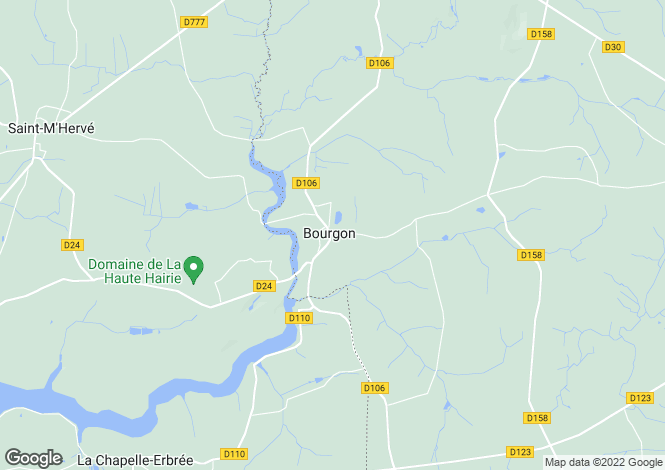 Map for bourgon, Mayenne, France