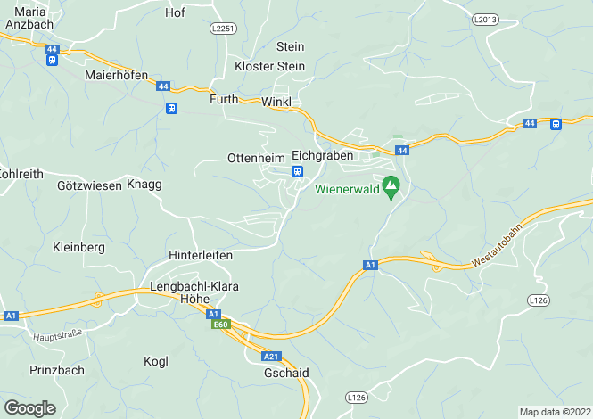 Map for Lower Austria, St Pölten (Land), Eichgraben