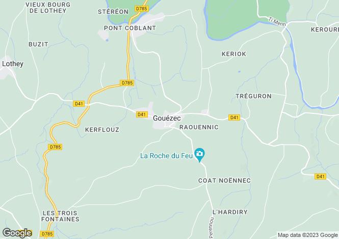 Map for GOUEZEC, Bretagne