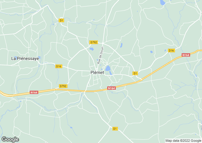 Map for plemet, Côtes-d'Armor, France