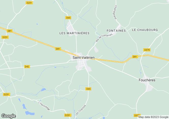 Map for SAINT VALERIEN, Bourgogne