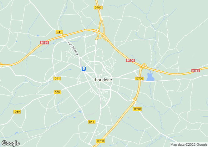 Map for loudeac, Côtes-d'Armor, France