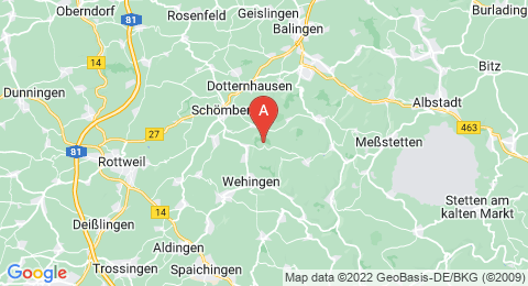 map of Rainen (Germany)