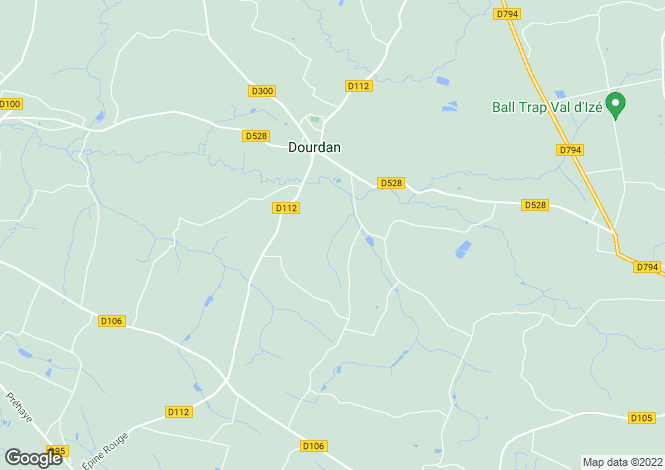 Map for DOURDAIN, Bretagne