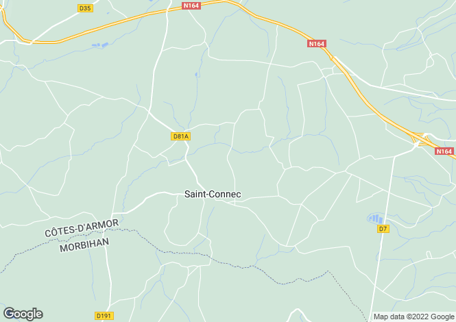 Map for ST CONNEC, 22530, France