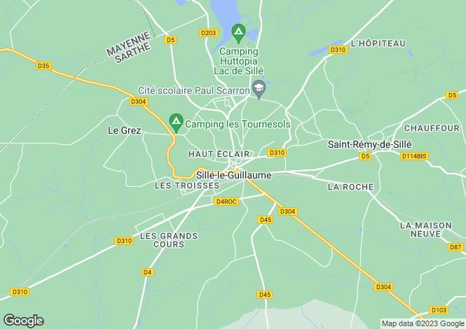Map for Pays de la Loire, Sarthe, Sillé-le-Guillaume