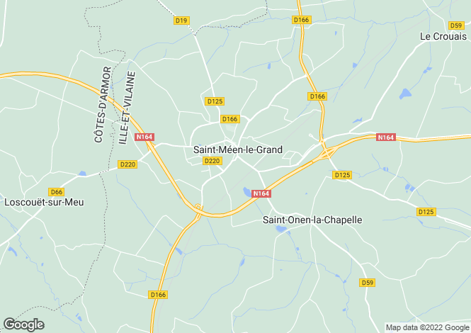 Map for st-meen-le-grand, Ille-et-Vilaine, France