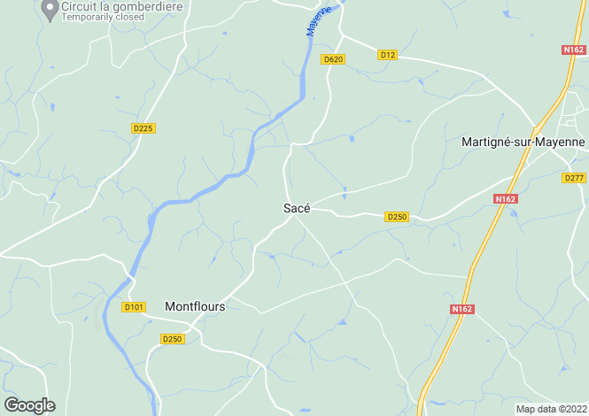 Map for SACE, 53470, France