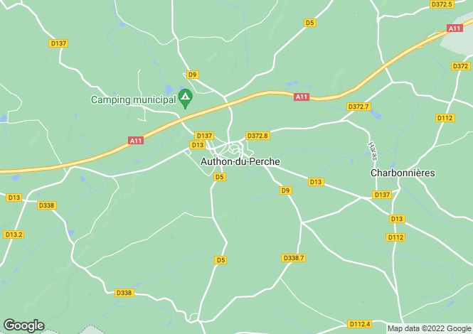 Map for authon-du-perche, Eure-et-Loir, France