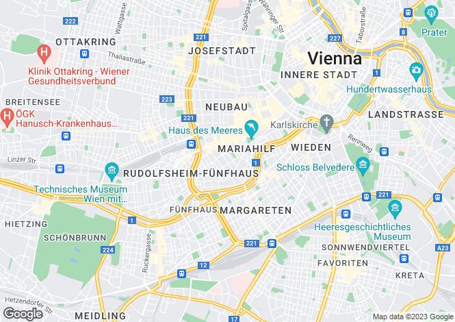 Map for Vienna, Vienna