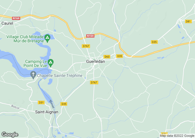 Map for mur-de-bretagne, Côtes-d'Armor, France