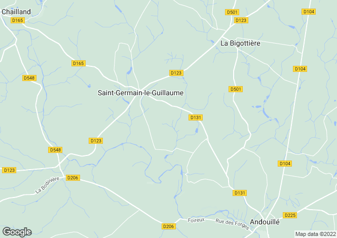 Map for st-germain-le-guillaume, Mayenne, France