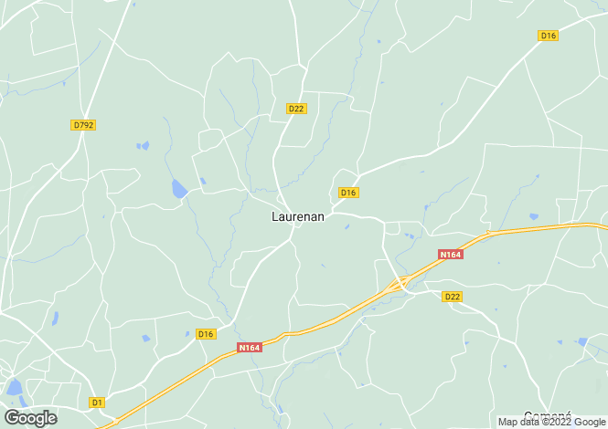 Map for Brittany, Côtes-d'Armor, Laurenan