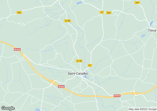 Map for Brittany, Côtes-d'Armor, St-Caradec