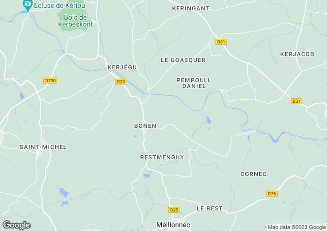Map for Brittany, Côtes-d'Armor, Bonen